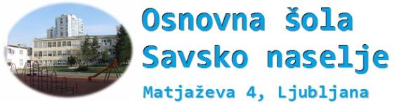 E-učilnica OŠ Savsko naselje